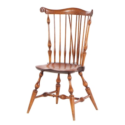 Wallace Nutting Fan Back Early New England Windsor Side Chair, Late 18th Century