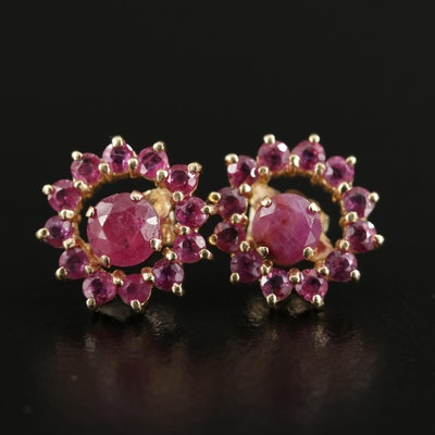 14K Yellow Gold Ruby Earrings and Jackets
