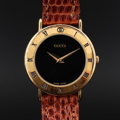 Gucci 3000 2.6 Gold Tone Quartz Wristwatch