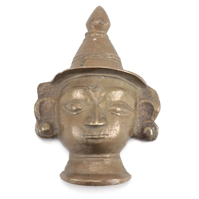Southeast Asian Brass Buddha Head