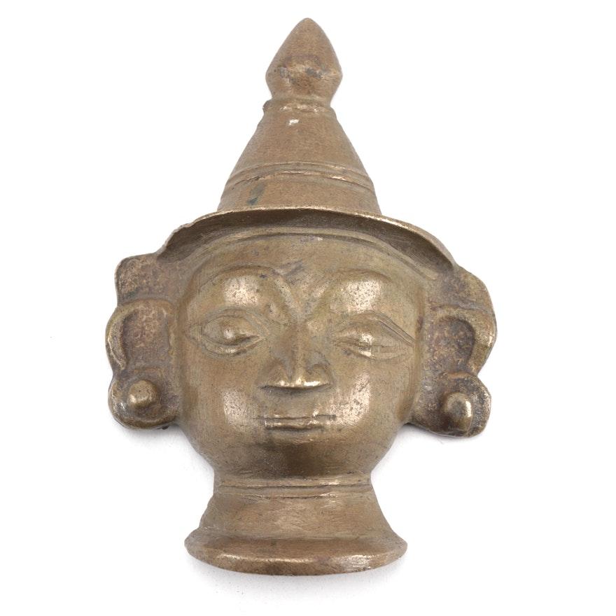 Southeast Asian Brass Buddha Head