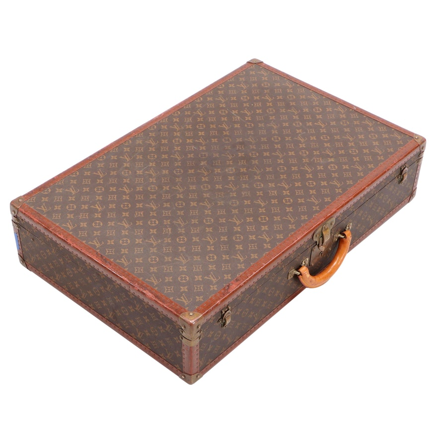 Louis Vuitton Bisten 80 Suitcase in Monogram Canvas and Leather, circa 1960