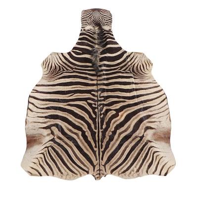 6'2 x 9'2 African Zebra Hide Area Rug