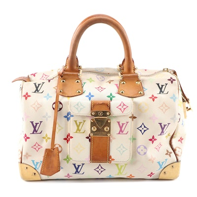 Louis Vuitton Speedy 30 in Multicolore Monogram Canvas and Leather