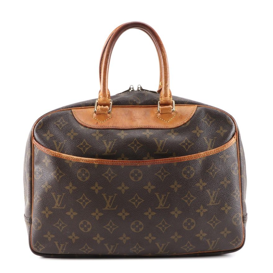 Louis Vuitton Trouville Travel Bag in Monogram Canvas and Leather