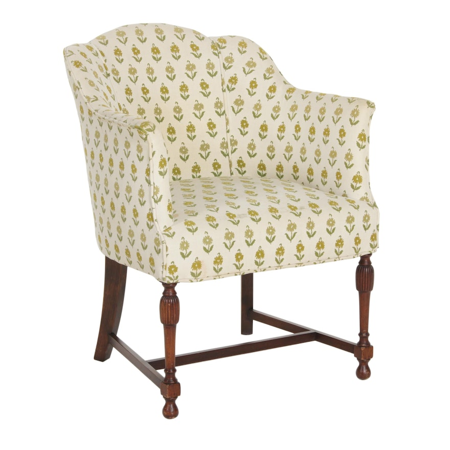 Sheraton Style Club Chair, Mid to Late 20th Century