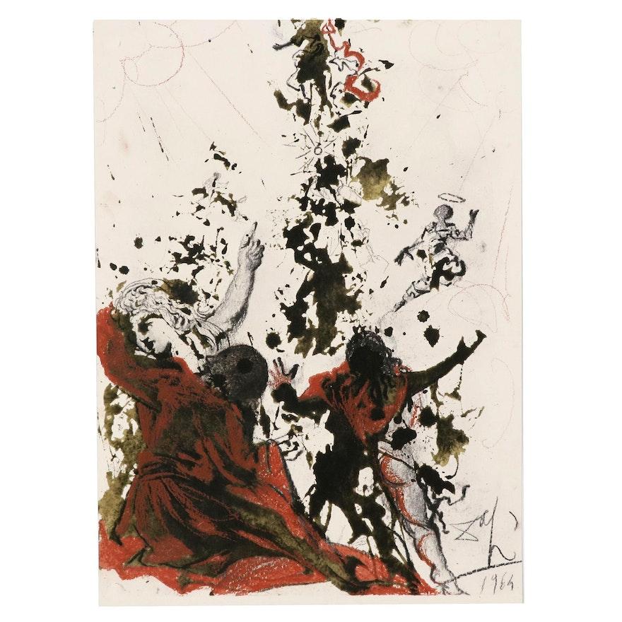 """Salvador Dali Lithograph """"Iesu transfigurato (Mark 9:4f)"""", 1969"""