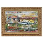 """Steve Nassano Oil Painting """"View from Devou Park"""""""