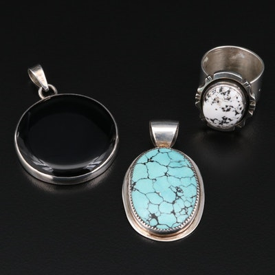 Sterling Silver Jewerlry Featuring Priscilla Smith Navajo Diné and VinCent