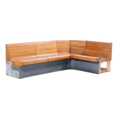 Brunswick Maple Modular Bench Seating, Mid-20th Century