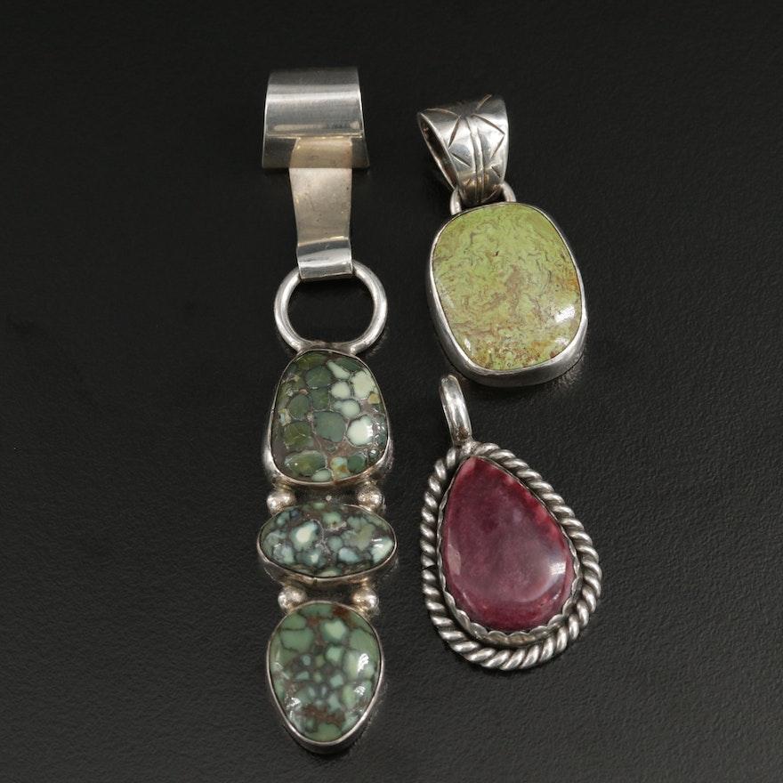 Sterling Silver Pendants Featuring Lena Platero Navajo Diné