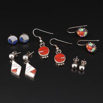 Collection of Sterling Silver Dangle and Stud Earrings Featuring B.G. Mudd