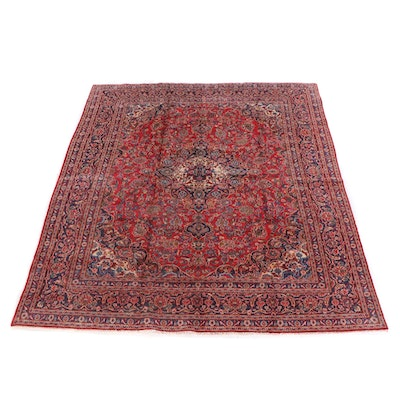 9'5 x 12'4 Hand-Knotted Persian Isfahan Wool Rug