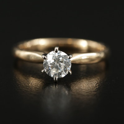 14K Yellow Gold 0.60 CT Diamond Solitaire