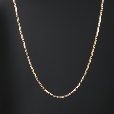 14K Gold Box Link Chain