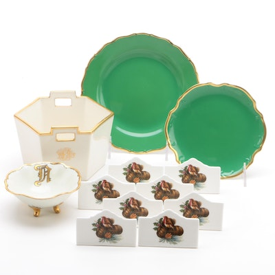 Royal Vale Place Card Holders with Lenox and Anna Weatherley Plates