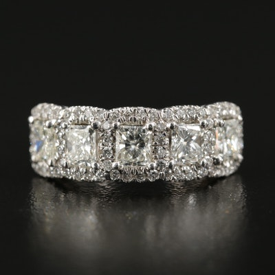 18K White Gold 1.86 CTW Diamond Ring