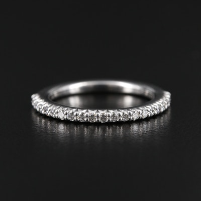 Ritani 18K White Gold Diamond Band