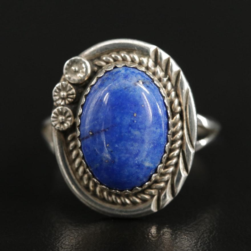 Southwestern Style Sterling Lapis Lazuli Ring