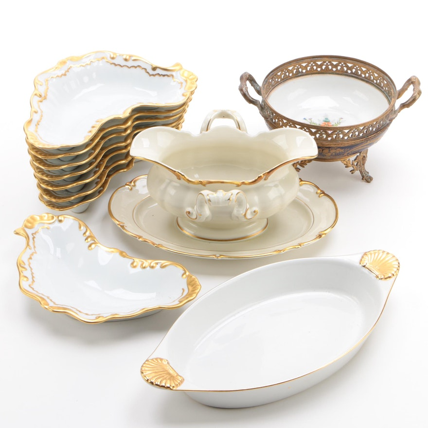"""Ruth Seltmann Bowls with Georges Briard """"Coquille D'Or"""" Baking Dish and More"""