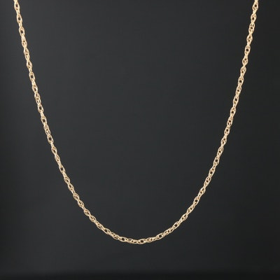 14K Yellow Gold Rope Link Chain
