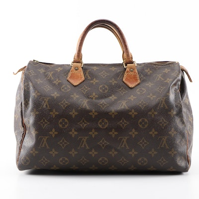 Louis Vuitton Speedy 35 in Monogram Canvas and Leather