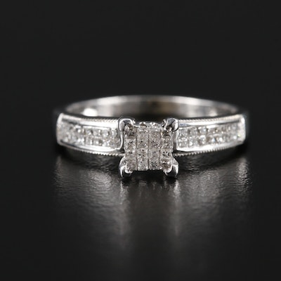 14K White Gold 0.67 CTW Diamond Ring