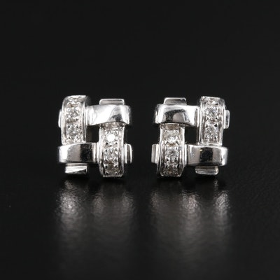 Tiffany & Co. 18K White Gold Diamond Earrings