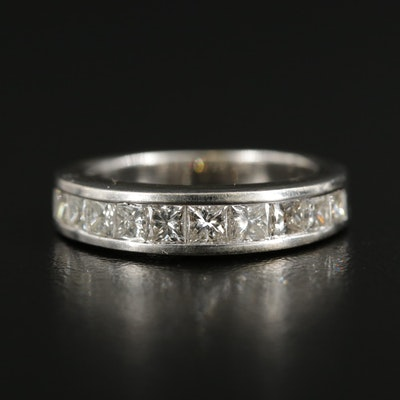 14K White Gold 1.00 CTW Diamond Channel Ring