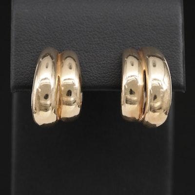 Dan Frere 14K Yellow Gold Huggie Earrings
