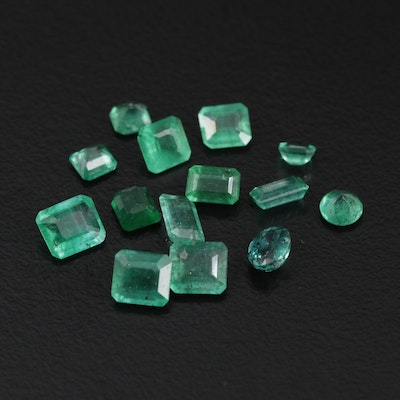 Loose 4.64 CTW Mixed Cut Emeralds