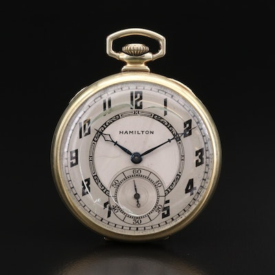 Vintage Hamilton Gold Filled Pocket Watch, 1929