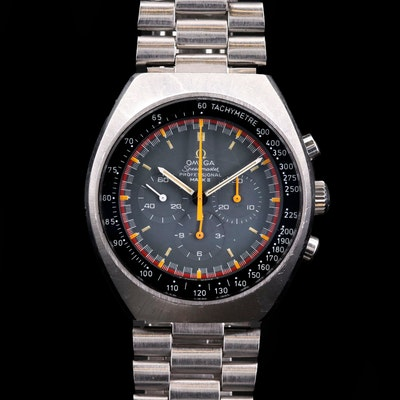 Vintage Omega Speedmaster Mark II Racing Chronograph Stainless Steel Wristwatch