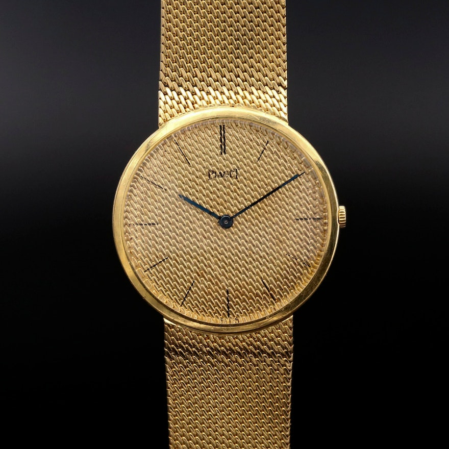 Piaget 18K Yellow Gold Stem Wind Wristwatch