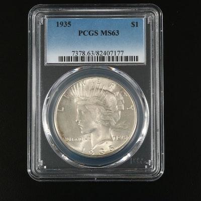 PCGS Graded MS63 1935 Peace Silver Dollar