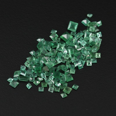 Loose 9.73 CTW Mixed Cut Emeralds