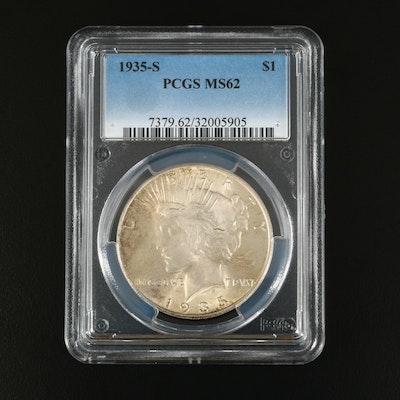 PCGS Graded MS62 1935-S Peace Silver Dollar