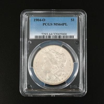 PCGS Graded MS64PL 1904-O Morgan Silver Dollar