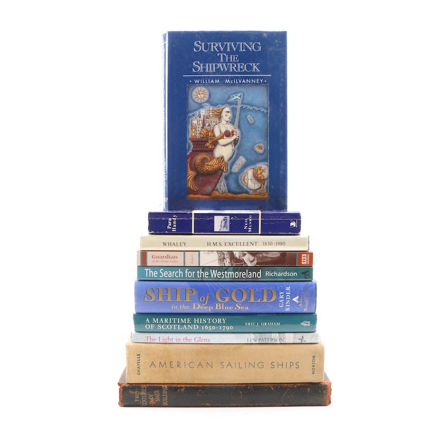History of Ships and Shipbuilding Books including Signed First Editions