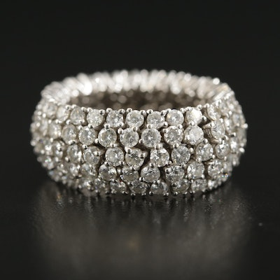 18K White Gold 5.11 CTW Diamond Flexible Ring