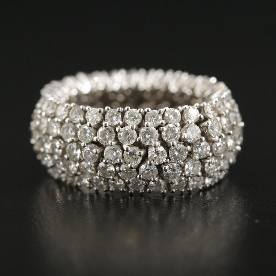 18K White Gold 5.11 CTW Diamond Flexible Ring
