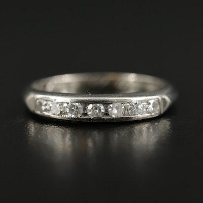 Vintage 14K Gold Diamond Channel Ring
