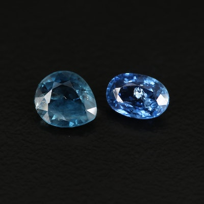 Loose 1.44 CTW Pear and Oval Faceted Sapphires