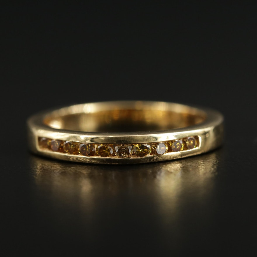 Birks 18K Gold Fancy Yellow Diamond Band