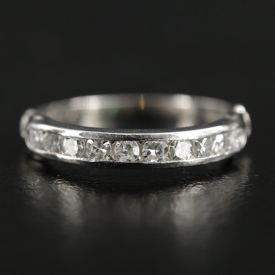 Platinum Diamond Channel Ring