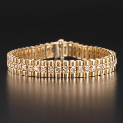 14K Gold 7.75 CTW Diamond Line Bracelet