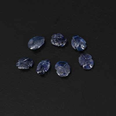 Loose 5.59 Carved Flower Motif Sapphires