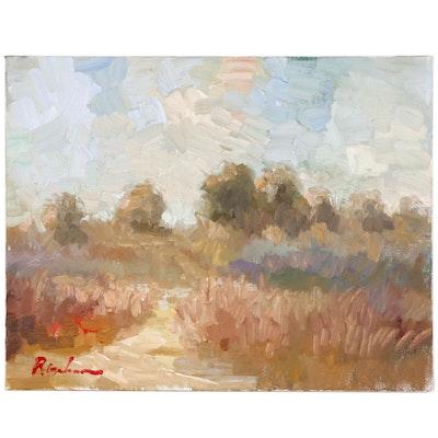 "Sally Rosenbaum Landscape Oil Painting ""Napa, Ca"""