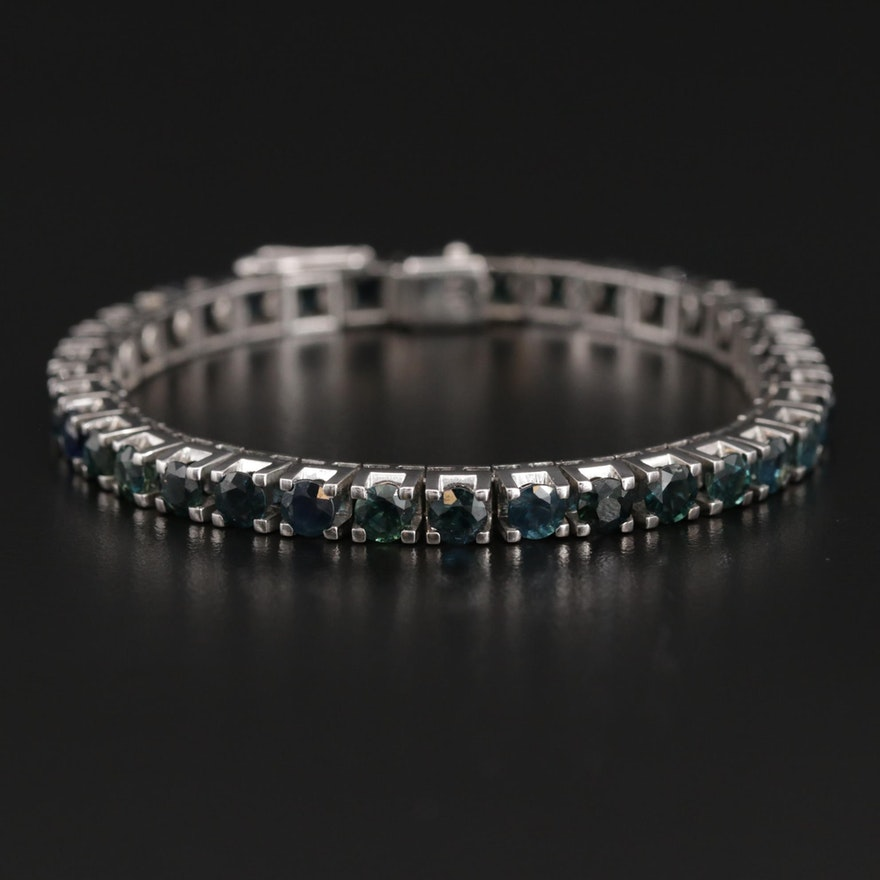 14K Sapphire Line Bracelet