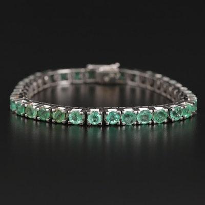 14K Emerald Line Bracelet